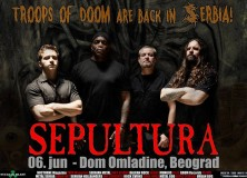Only for FMS bands! Do you want to support Sepultura in Belgrade!